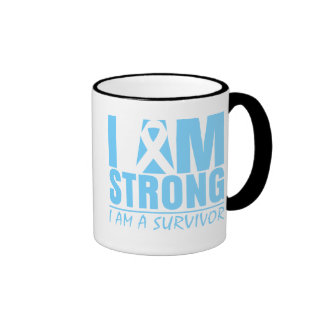 I am Strong - I am a Survivor - Prostate Cancer Ringer Mug