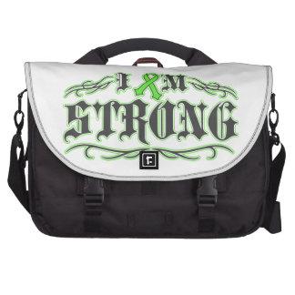 I am Strong Lymphoma Warrior Tattoo Laptop Bag