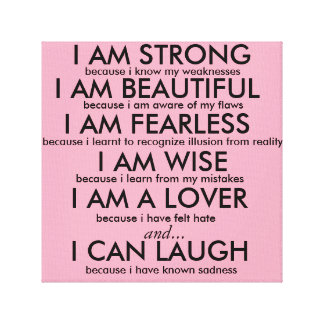 I AM STRONG Poster Canvas Print