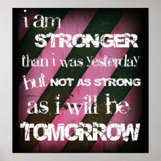 I am stronger Ladies Elite Fitness Poster