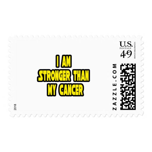 I Am Stronger Than My Cancer Stamp