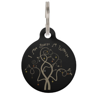 I Am Such A Witch - metal keychain Pet ID Tag
