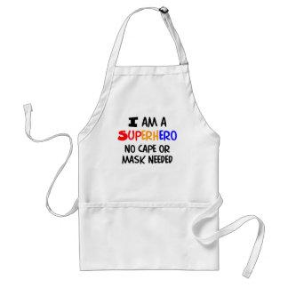 I am superhero adult apron