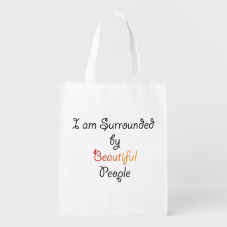 I am Surrounded by Beautiful People Market Totes