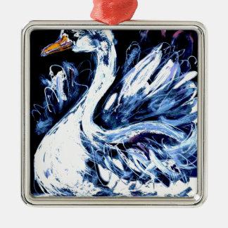 I am Swan Metal Ornament