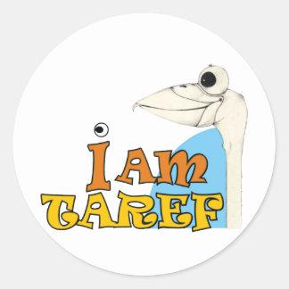 I am Taref Classic Round Sticker