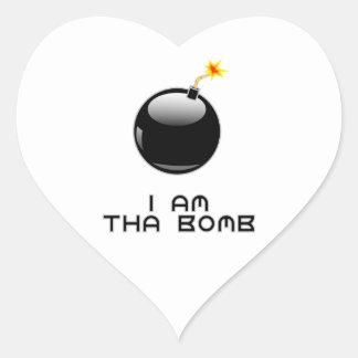 I am tha bomb heart sticker
