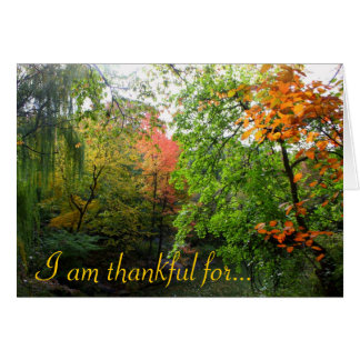 I am thankful for... you cards
