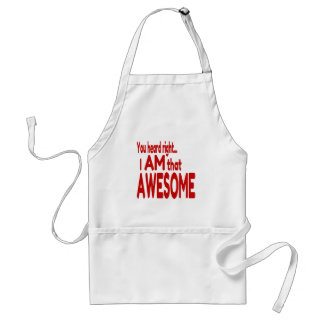 I am that Awesome in Red Adult Apron