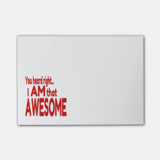 I am that Awesome in Red Post-it Notes