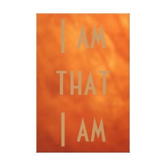 I Am that I Am, Inspirational Wrapped Canvas