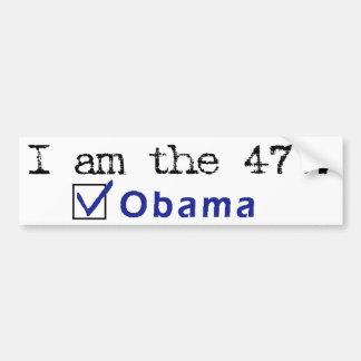 """""""I am the47%"""" bumper sticker"""
