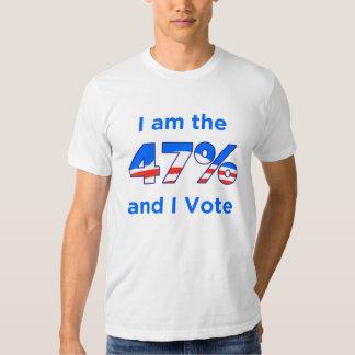 I am the 47% and I vote Obama logo shirt