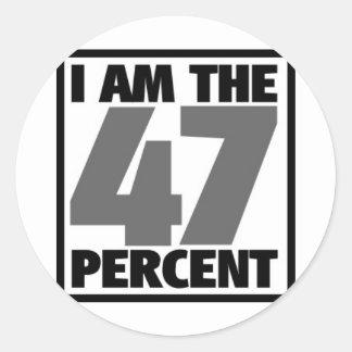 I am the 47% classic round sticker