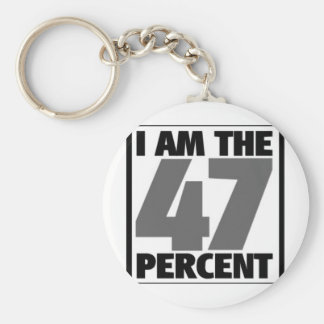 I am the 47% keychain