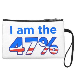I am the 47% Obama Purse Wristlet Clutch