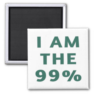 I Am the 99% 2 Inch Square Magnet