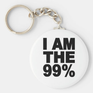 I am the 99% (Occupy Wall St) Keychain