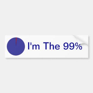 I Am The 99% Pie Chart Bumper Sticker