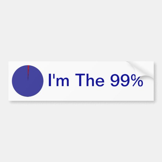 I am the 99 pie chart bumper sticker