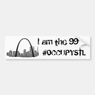 I am the 99%! sticker. bumper sticker