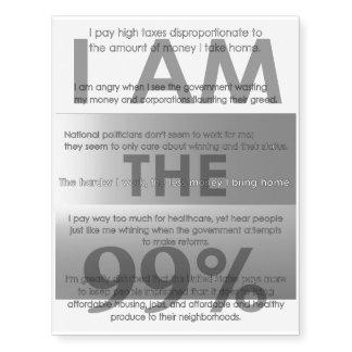 I Am the 99% Temporary Tattoos