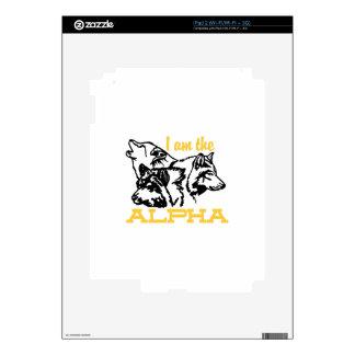 I Am The Alpha iPad 2 Skins