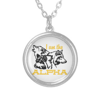 I Am The Alpha Round Pendant Necklace