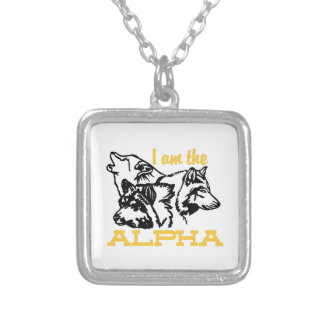 I Am The Alpha Square Pendant Necklace