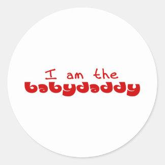I am the Baby Daddy Classic Round Sticker