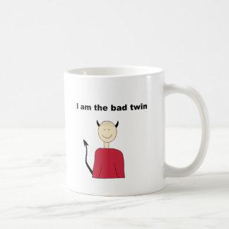 I Am The Bad Twin Classic White Coffee Mug