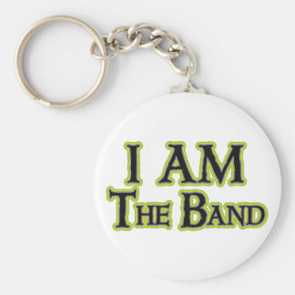 I AM the Band Basic Round Button Keychain