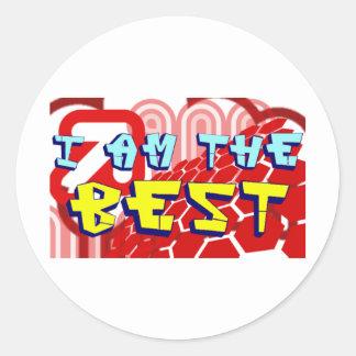 i am the best 1 classic round sticker