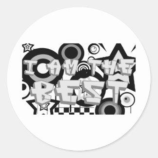 i am the best 2 classic round sticker