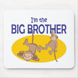 I am the big brother monkey mouse pad