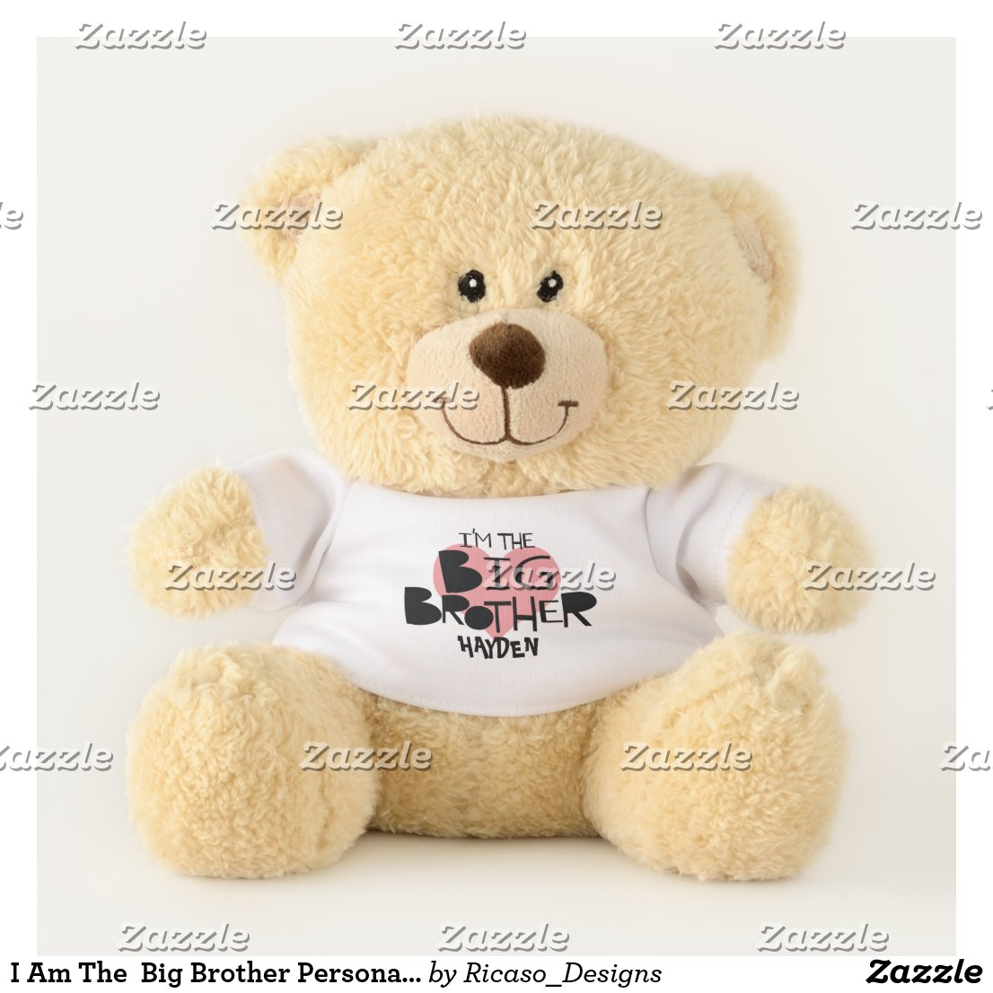 I Am The  Big Brother Personalized Heart Teddy Bear