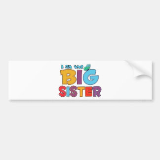 I am the Big Sister Butterfly Bumper Sticker