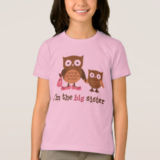 I am the Big Sister - Mod Owl t-shirts for girls