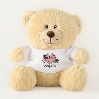 I Am The Big Sister Personalized Heart Teddy Bear