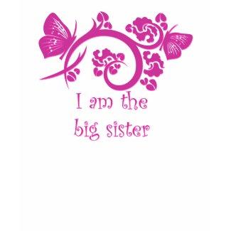 I am the big sister pink girls T-Shirt shirt