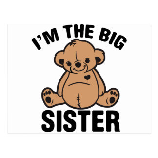 I am the big sister postcard