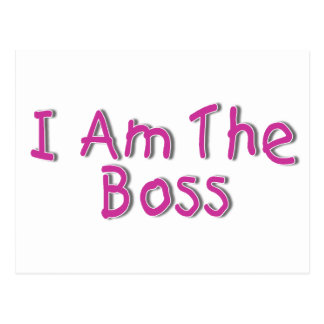 I Am The Boss 2 Postcard