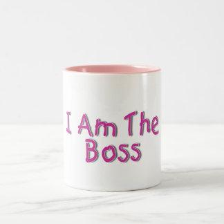 I Am The Boss 2 Two-Tone Coffee Mug
