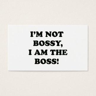 I Am The Boss Business Card