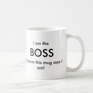 I am the Boss Classic White Coffee Mug