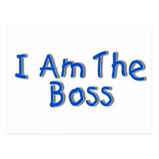 I Am The Boss Postcard