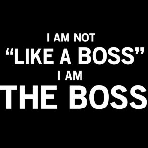 Funny boss ties zazzle i am the boss tie ccuart Image collections