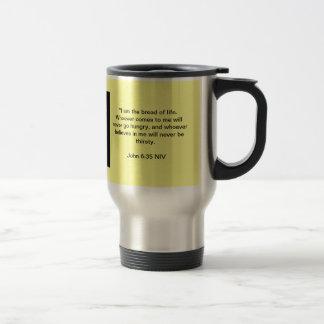 I Am The Bread Of Life Travel Mug