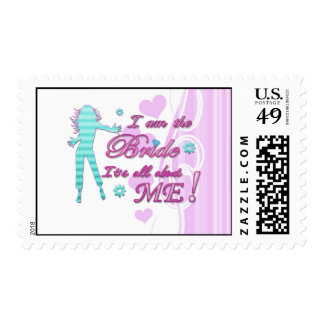 i am the bride about me wedding bachelorette brida postage stamps