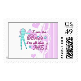 i am the bride about me wedding bachelorette brida stamps